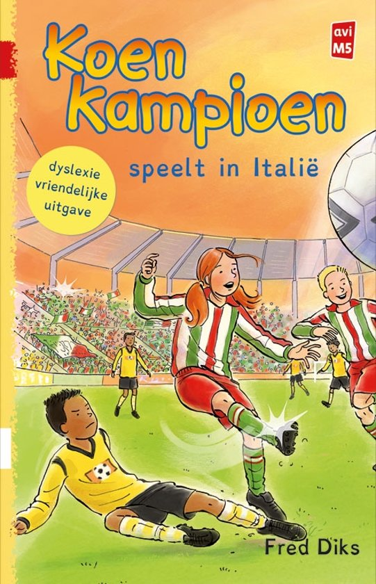 Dyslexie boeken Koen Kampioen speelt in Italie