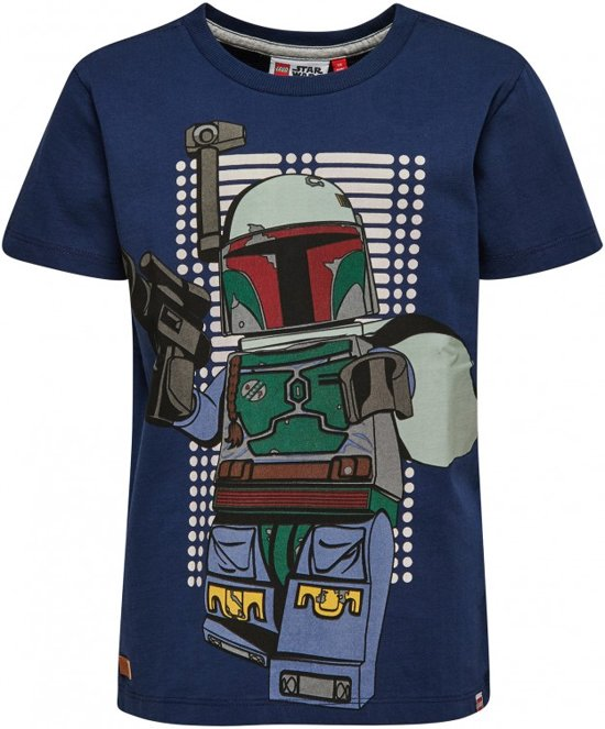Blauwe jongens tshirt Lego Star Wars Glow in the dark Legowear - Maat 116