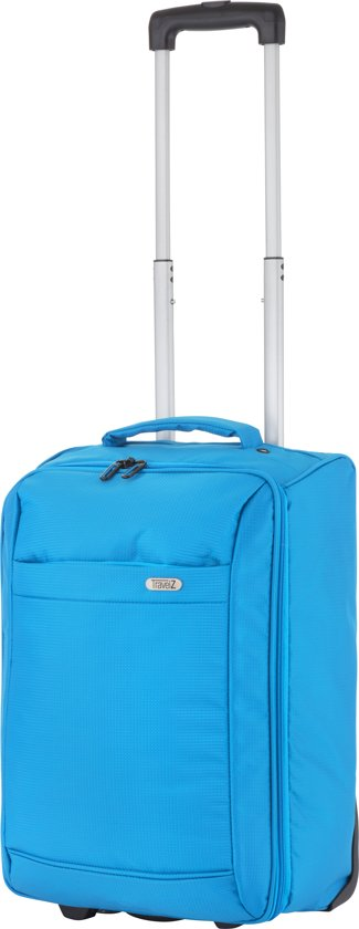 Travelz - Handbagage trolley - Handbagagekoffer 51cm - Ultralicht 1,7kg - 2 wiel - Volledig gevoerd - Blauw