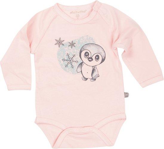 Minymo - newborn baby romper - model Chin - roze - Maat 68