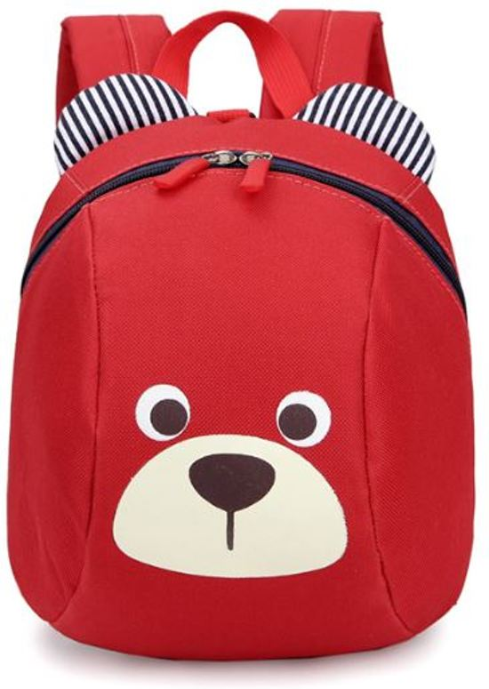 5f312883b12 Harness Buddy kindertuigje - Knuffel rugzakje met looplijn - Looptuigje red  bear - Tuigje Kind -
