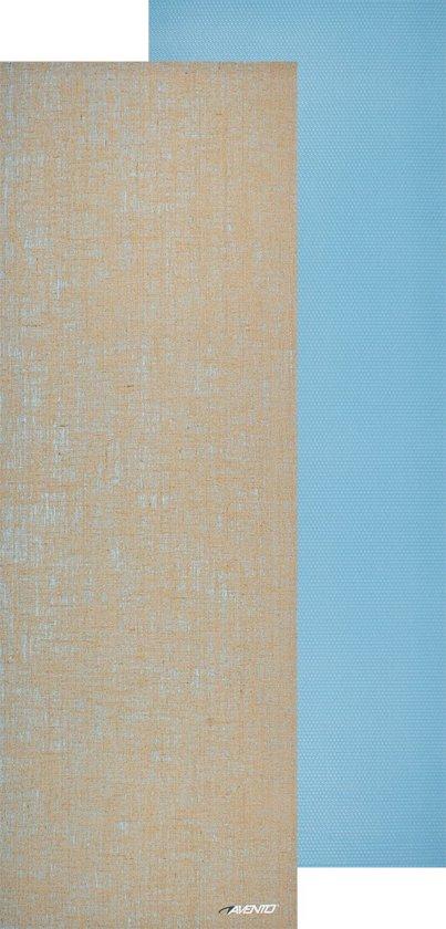 Avento Mat Yoga - Eco-Jute - 173 cm x 61 cm x 0,6 cm - Lichtblauw