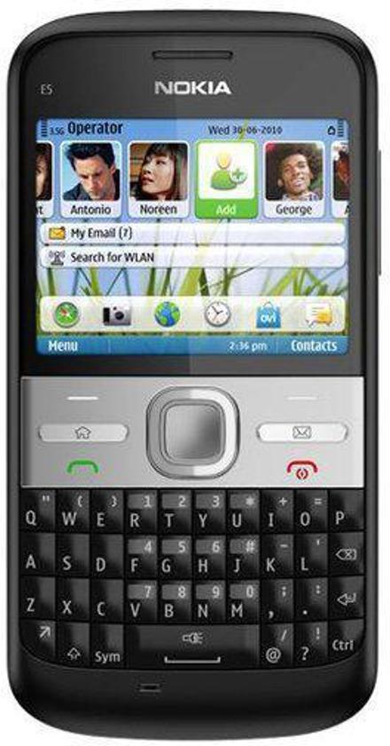 Nokia E5-00 - Carbon Zwart