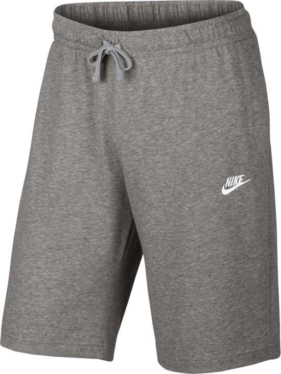 Nike Sportswear Club Short Jersey Sportshort Heren - Dk Grey Heather/White