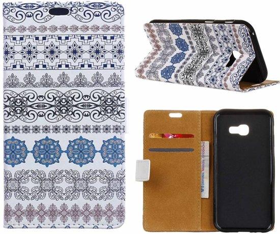 GSMWise - Samsung Galaxy Xcover 4 - Portemonnee Hoesje met Kaarthouder - Arabic Floral Pattern Design in Glain
