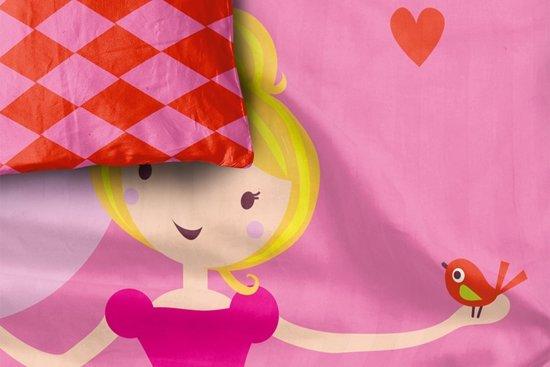 dekbedovertrek Princess - Eenpersoons - +: 1 sloop 60x70 cm