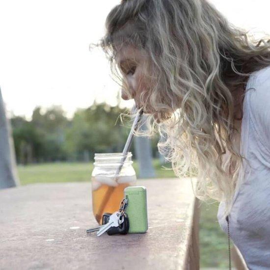 PlanetStraw - Milieuvriendelijk, Opvouwbare en Herbruikbare Rietjes   Roze