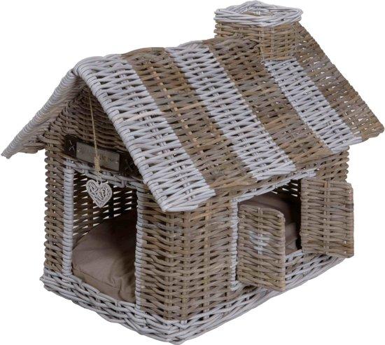 Happy-House Hondenmand / Kattenmand Huis Villa Riet - 42X62X59 CM