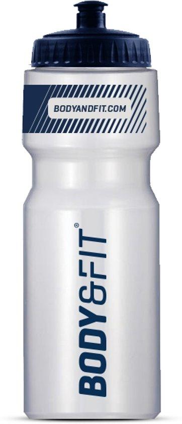 Body & Fit Bidon Transparant - BPA vrij - Blauw - 700 ml