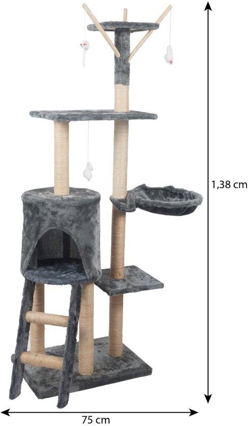 Katten Krabpaal Saar Grijs - 50x35x138 cm - REKE