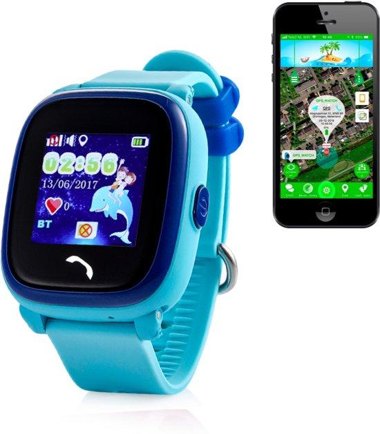 GPS tracker Junior AQUA Wifi horloge kind Camera [BLAUW]