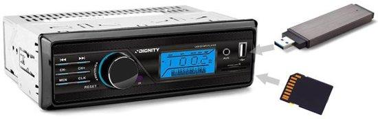 Vordon Autoradio met AUX / USB / SD ingang - FM radio - Zwart