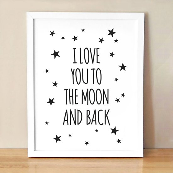 Bolcom Postercity Design Canvas Poster Love You To The Moon And