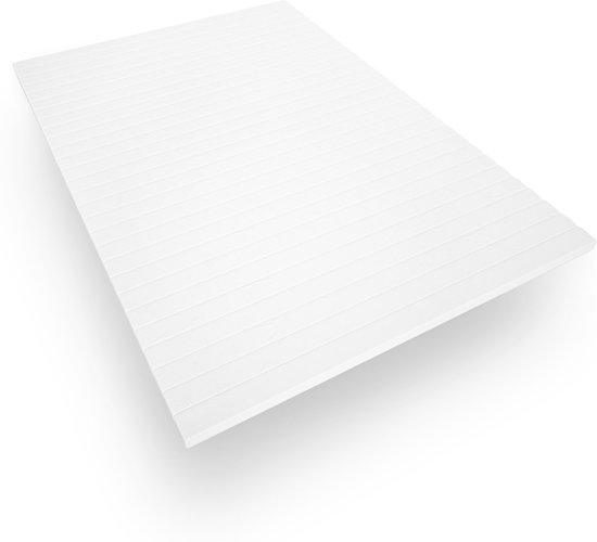 Topdekmatras - 200x200 - koudschuim - microvezel tijk - 5 cm hoog