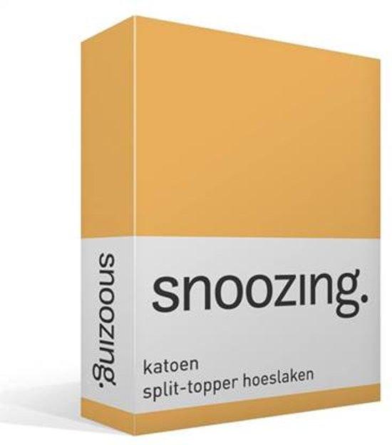Split Topper Hoeslaken Katoen.Snoozing Katoen Split Topper Hoeslaken Tweepersoons 140x200 Cm Geel
