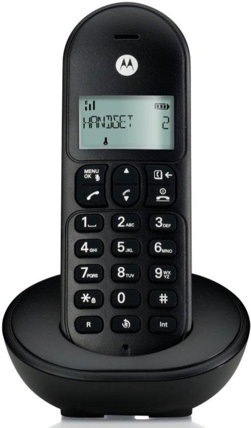 Motorola T101L Basic Single Set - BE - DECT Telefoon - Zwart