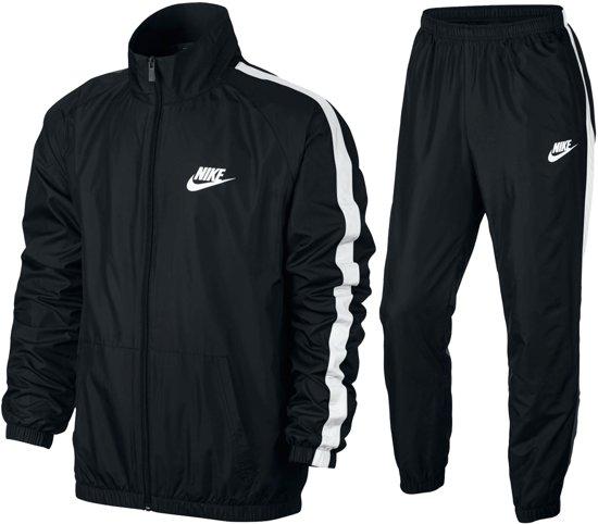 Nike Sportswear NSW Woven  Trainingspak - Maat L  - Mannen - zwart/wit