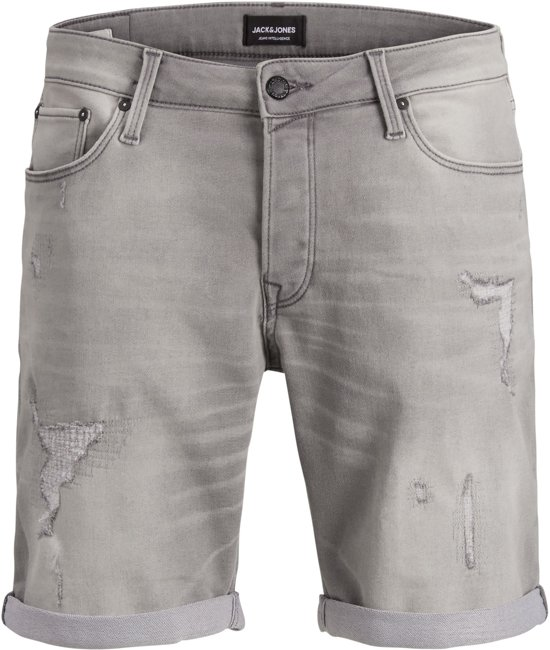 Jack & Jones Rick Icon regular fit short light grey denim_XL, maat XL