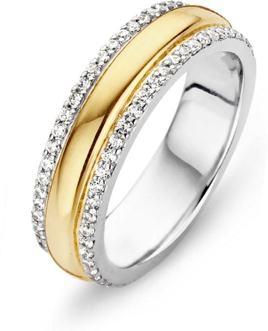 Moments Ring  15057AY/58 Zilver geelgoudverguld 18.50 mm (58) Ring met stenen Zirkonia