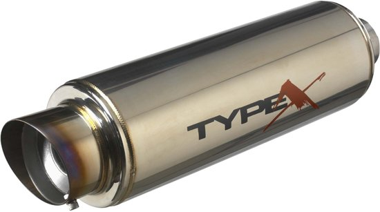 AutoStyle Sportuitlaat Universeel Type X-50 Racing 'DualSound' - Angle Tip - Titanium