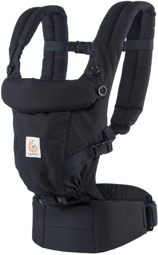2df0c24a027 Ergobaby Adapt - Black - ergonomische draagzak vanaf de geboorte zonder  verkleinkussen