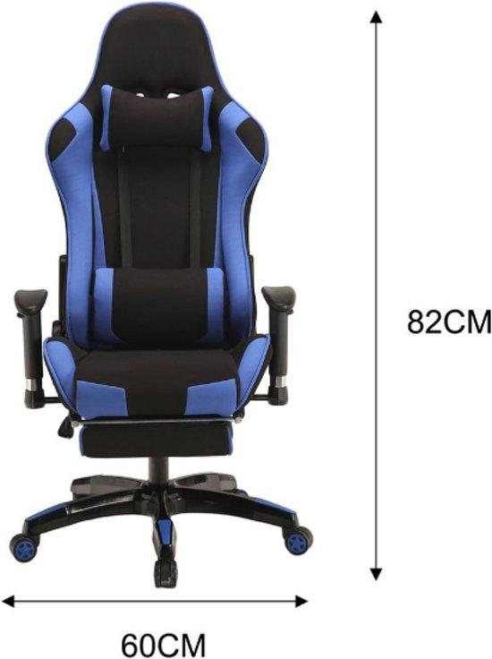 Wondrous Gaming Chair Met Voetsteun Hoogte Verstelbaar Ergonomisch Belastbaar Tot 150 Kg Zwart Blauw Pdpeps Interior Chair Design Pdpepsorg
