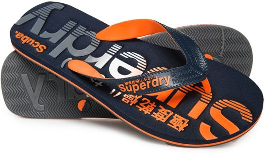 Faded Superdry Scuba Teenslippers Logo Oranje wtFqURf5f