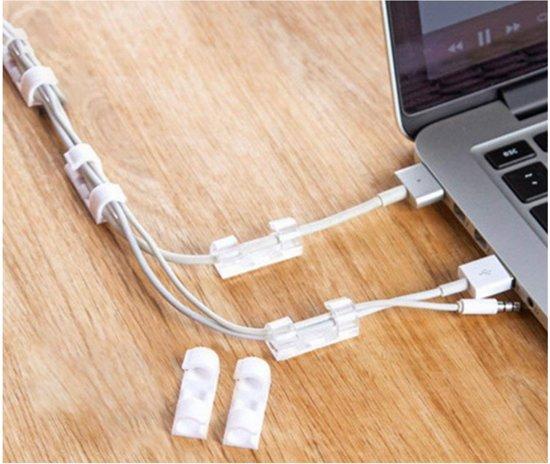 20 x Kabel Clips | Kabel Houder | Zelfklevend | Kabelbinder | Kabel Klemmen | Kabel Organizer Transparant | 20 Stuks