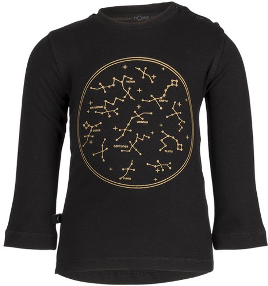 Longsleeve Hilly intergalactic gold/eclipse black nOeser -  Maat  68