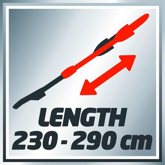 Einhell GE-EC 720 T KIT Elektrische Hoogsnoeier - 710 W - Zwaardlengte: 200 mm - Telescopisch - OREGON zwaard & ketting - Inclusief heupgordel met koker