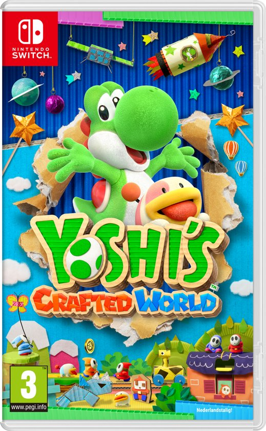 Cover van de game Yoshis Crafted World Nintendo Switch
