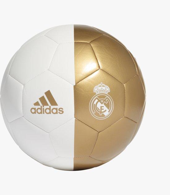 Real Madrid Voetbal - Adidas - Maat 5 - Goud/Wit