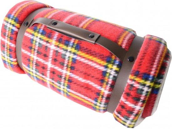 Amigo Fleece Deken/plaid Carrystrap 127 X 152 Cm Rood/geel
