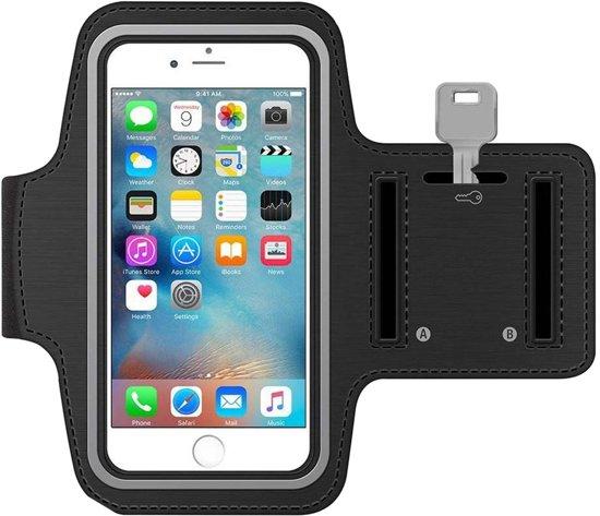 MMOBIEL Sport / Hardloop armband (ZWART) voor iPhone XS / XR / X / 8 / 7 / 6S / 6 Spatwatervrij, Reflecterend, Neopreen, Comfortabel, Verstelbaar, Koptelefoon Aansluitruimte en Sleutelhouder!