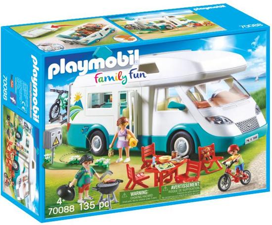 Afbeelding van PLAYMOBIL  Mobilhome met familie - 70088 speelgoed