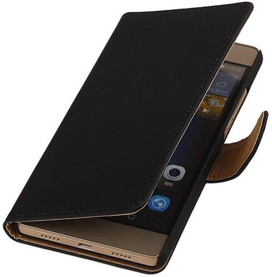 Huawei G8 - Effen Booktype Wallet Hoesje Zwart