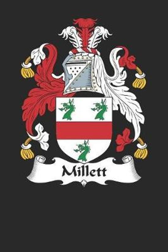 Millett: Millett Coat of Arms and Family Crest Notebook Journal (6 x 9 - 100 pages)