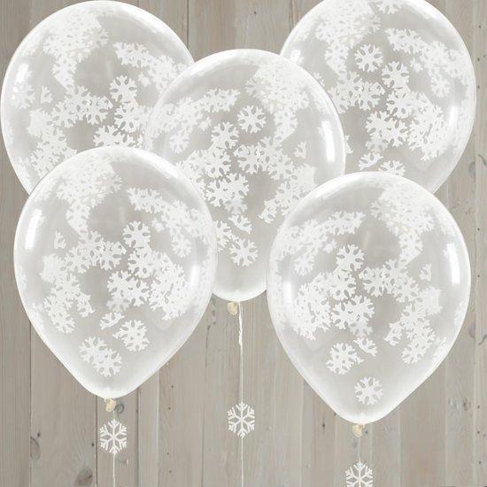 Ginger Ray Rustic Christmas - Ballon gevuld met sneeuw confetti - Set-5 Valentinaa