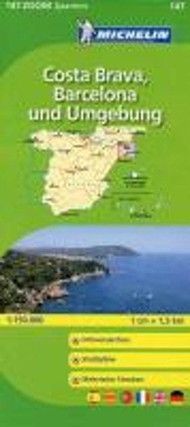 Michelin Zoomkarte Costa Brava, Barcelona und Umgebung 1 : 150 000