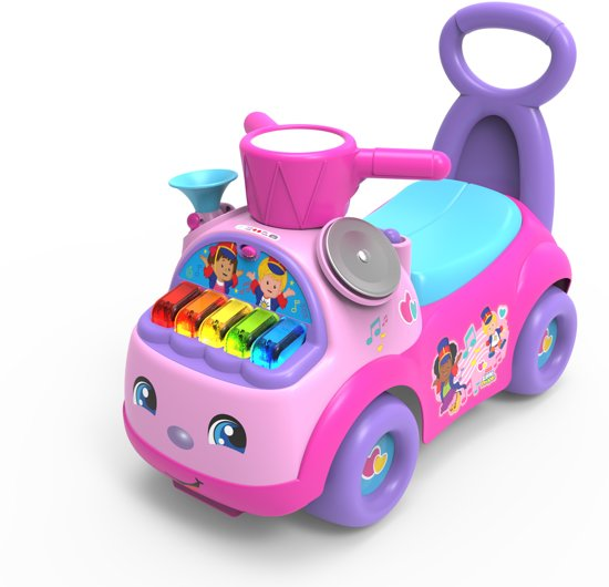 Fisher-Price Little People Music Parade Roze - Loopauto