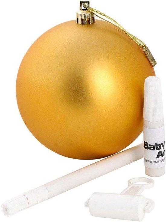 Baby art maak je eigen kerstbal (goud)