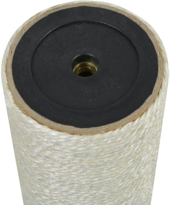 vidaXL Kattenkrabpaal 8x25 cm 10 mm beige