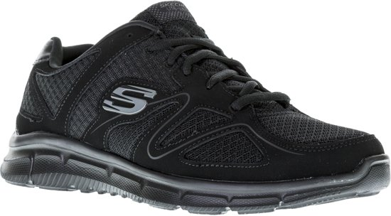 Skechers Verse Flash Point Sneaker Heren Sneakers Maat 45 Mannen zwartgrijs
