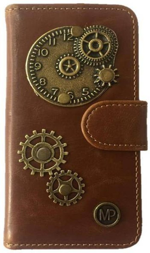 PU Leder Mystiek design Bruin Hoesje voor Motorola Moto G5 PLUS Time Bedel book case wallet case in Saint-Maur