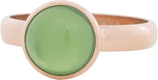 iXXXi Jewelry - Vulring - 1 Green stone - Rosegoudkleurig - 4mm - maat 20