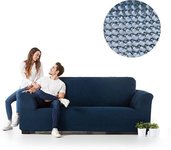 Milos meubelhoezen - bankhoes 240-290cm - Licht Blauw - Verkrijgbaar in verschillende kleuren!