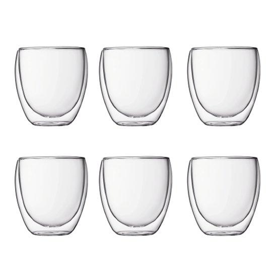 Bodum Pavina Dubbelwandig Glas - 250 ml - 6 stuks