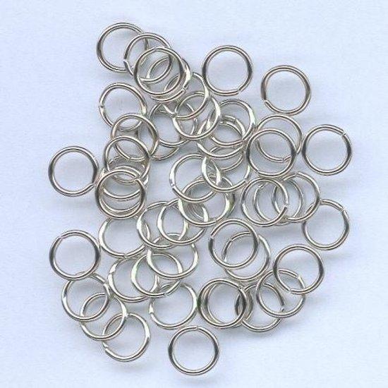 Splitring gehard zilverkleur 8 milimeter 50 Stuks