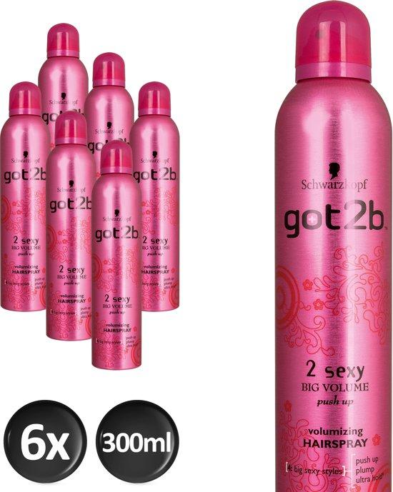 Schwarzkopf got2b 2 Sexy Haarspray - 6 stuks - Voordeelverpakking
