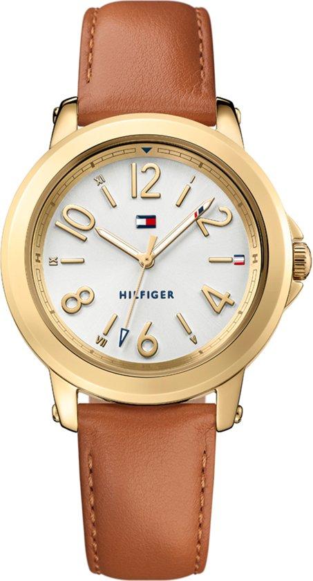 4bf4dac68fa209 Tommy Hilfiger TH1781754 Horloge - Leer - Bruin - 38 mm